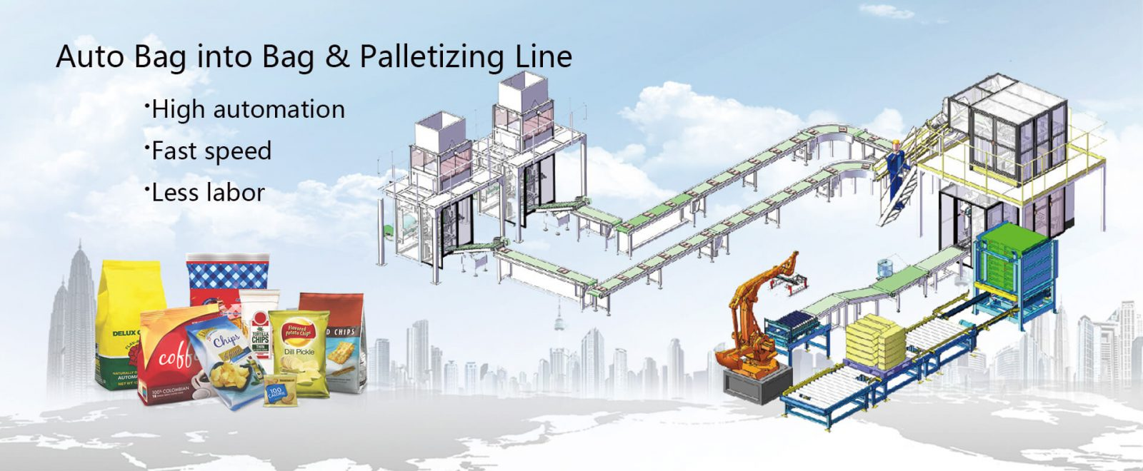 Auto Bag in Bag & Palletizing Line