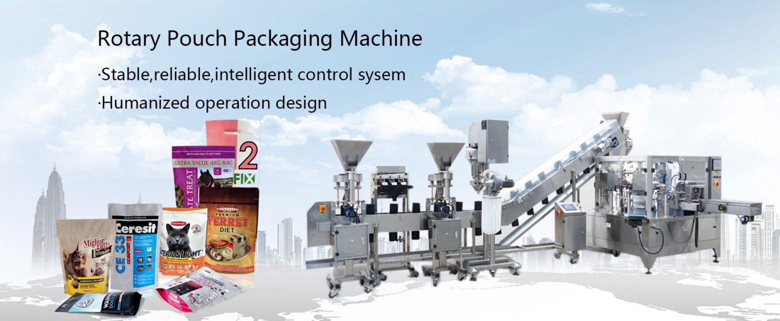 Machine de conditionnement de poche rotative