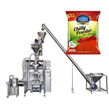 machine à emballer vffs bagger avec remplisseur de tarière pour poudre de paprika et de piment