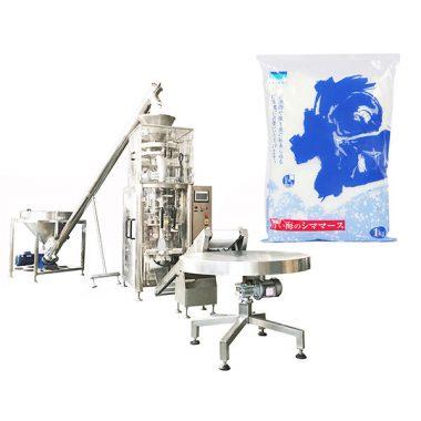 machine de scellage de remplissage verticale au sel avec gobelet volumétrique